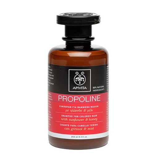Apivita Propoline Σαμπουάν Για Βαμμένα Μαλλιά Με Μέλι & Ηλίανθο 250ml