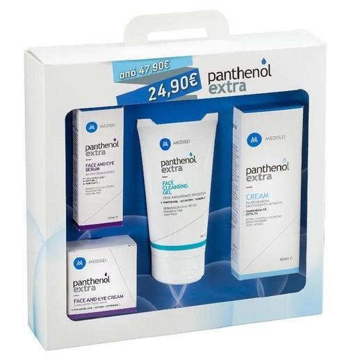 MediSei Panthenol Extra Promo Serum 30ml +Face&Eye Cream 50ml +Face Cleansing Gel 150ml +Cream 100ml