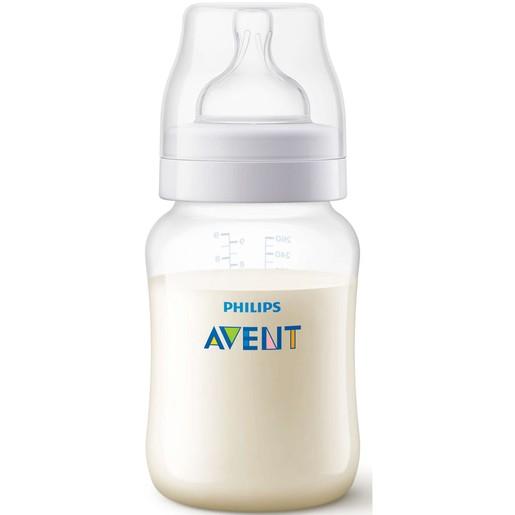 Avent Anti-Colic Μπιμπερό Θηλή Σιλικόνης Αργής Ροής Κατά των Κολικών & της Δυσφορίας, από 1 Μηνών,0% BPA 260ml SCF813/17