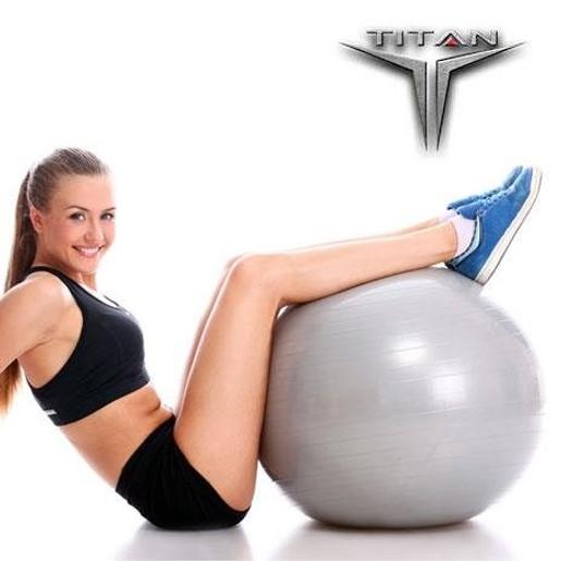 John\'s Titan Μπάλα Yoga-Pilates Φ σε Χρώμα Γκρι 65cm 1100gr