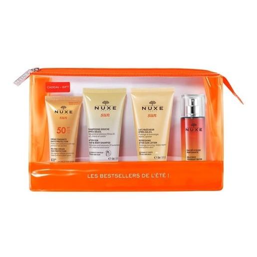 Nuxe Set Sun Face Cream Spf50 30ml After Sun Hair & Body Shampoo 50ml After Sun Lotion 50ml Fragrant Water 30ml