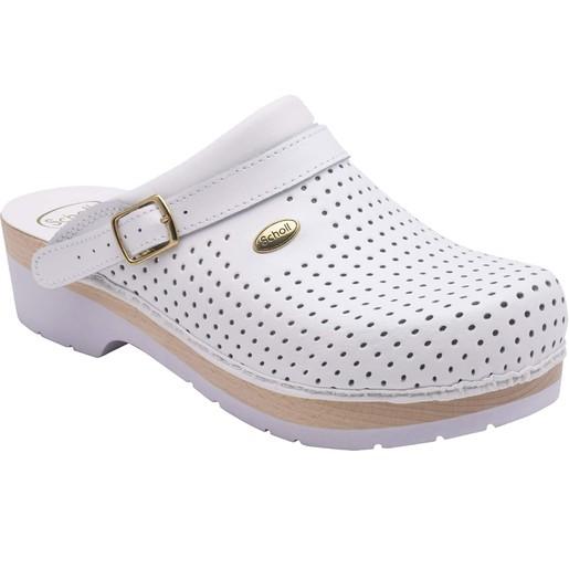Dr Scholl Shoes Σαμπό Λευκό Επαγγελματικά Υπερ Αναπαυτικά Παπούτσια, Χαρίζουν Σωστή Στάση & Φυσικό Χωρίς Πόνο Βάδισμα 1 Ζευγάρι