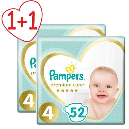 Pampers Πακέτο Προσφοράς Premium Care Jumbo Pack No4 (9-14kg) 2x52 πάνες 1+1 Δώρο