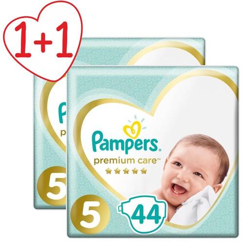 Pampers Πακέτο Προσφοράς Premium Care Jumbo Pack No5 (11-16kg) 2x44 πάνες 1+1 Δώρο