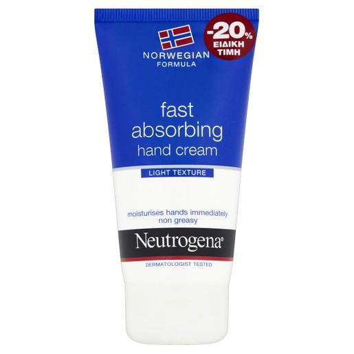 Neutrogena Formula Fast Absorbing Hand Cream Υπερ-Ενυδατική Κρέμα Χεριών Γρήγορης Απορρόφησης 75ml