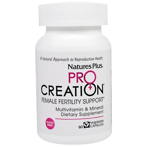 Nature\'s Plus Pro Creation Female Fertility Support Συμπλήρωμα Διατροφής που Βοηθά την ΑύξησηΓονιμότητας των Γυναικών 60 V. Cap