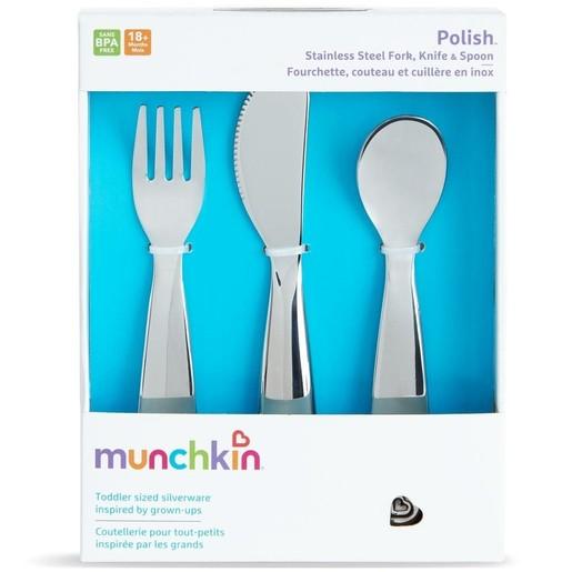 Munchkin Παιδικό Σετ Φαγητού Κουτάλι-Πιρούνι-Μαχαίρι