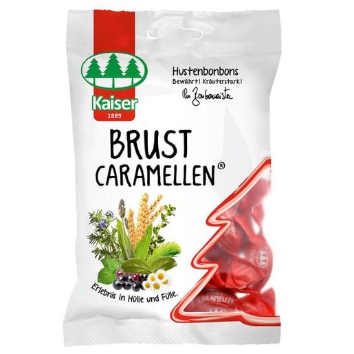 Kaiser Brust Caramellen Καραμέλες με 15 Βότανα & Έλαια, Χωρίς Ζάχαρη 60gr