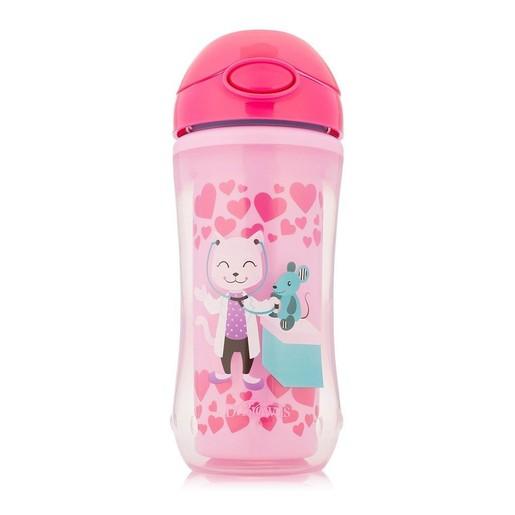 Dr Brown\'s Insulated Straw Cup Κύπελλο Θερμός με Καλαμάκι TC01020 από 12 Μηνών σε Ροζ Χρώμα 300ml