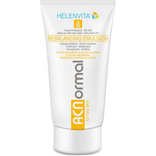 Helenvita ACNormal Rebalancing Emulsion Ενυδατική Κρέμα Προσώπου που Ρυθμίζει την Έκκριση Σμήγματος 60ml