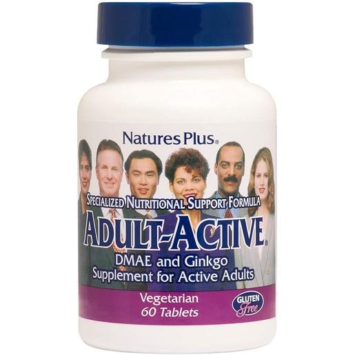 Nature\'s Plus Adult Active Συμπλήρωμα Διατροφής Φόρμουλα για τη Βελτίωση των Νοητικών & Ψυχικών Λειτουργιών 60 tabs
