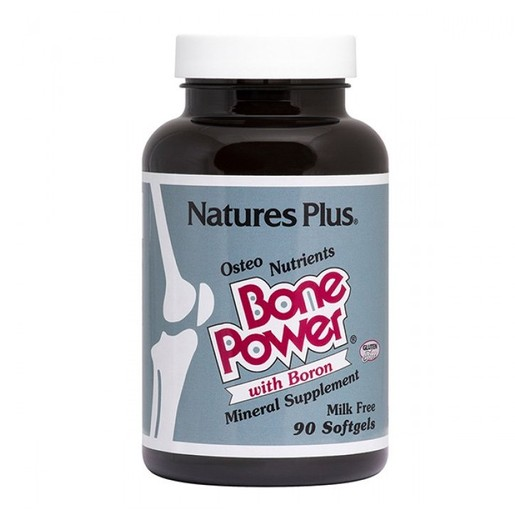 Nature\'s Plus Bone Power Συμπλήρωμα Διατροφής, Ειδική Φόρμουλα για την Υγεία των Οστών 90 softgels