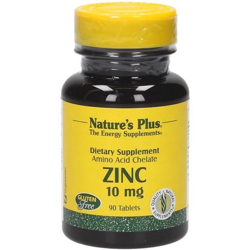 Nature\'s Plus Zinc 10mg Συμπλήρωμα Διατροφής με Ψευδάργυρο 90 tabs