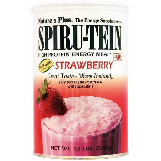 Nature\'s Plus Spiru-Tein Shake 1,2lb Strawberry Συμπλήρωμα Διατροφής, Φόρμουλα Πλήρους Πρωτεΐνης σε Γεύση Φράουλα 544gr