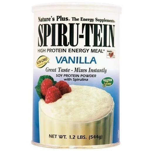 Nature\'s Plus Spiru-Tein Shake 1,2lb Vanilia Συμπλήρωμα Διατροφής, Φόρμουλα Πλήρους Πρωτεΐνης σε Γεύση Βανίλια 544gr