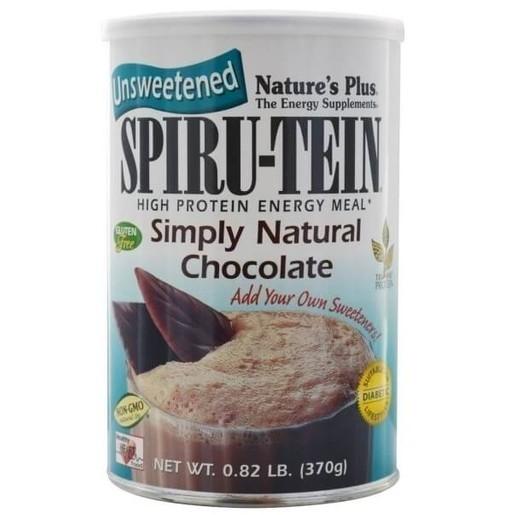 Nature\'s Plus Spiru-Tein Simply Natural Chocolate 1lb Συμπλήρωμα Διατροφής, Φόρμουλα Πλήρους Πρωτεΐνης σε Γεύση Σοκολάτα 370gr