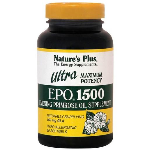 Nature\'s Plus Ultra Epo 1500mg Συμπλήρωμα Διατροφής, Ιδανικό στο Καρδιαγγειακό και το Νευρικό Σύστημα 60Softgels