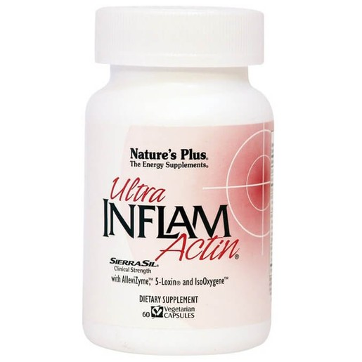 Nature\'s Plus Ultra Inflam Actin Συμπλήρωμα Διατροφής με Αντιφλεγμονική, Αναλγητική και Αντιαρθριτική Δράση 60Veg.Caps