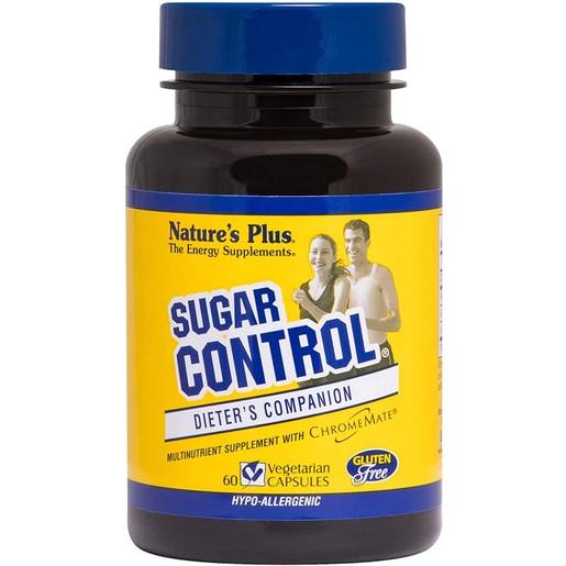 Nature\'s Plus Control Sugar Φόρμουλα που Βοηθά στην Καταπολέμηση της Βουλιμίας για Γλυκά και Ζάχαρη, Υποαλλεγικό 60Veg.Caps