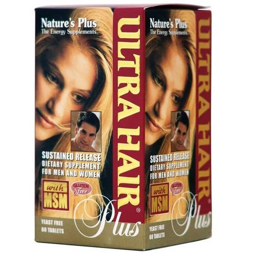 Nature\'s Plus Ultra Hair Plus Συμπλήρωμα Διατροφής, Φόρμουλα για τα Μαλλιά που Ενισχύει την Κερατίνη 60Tabs