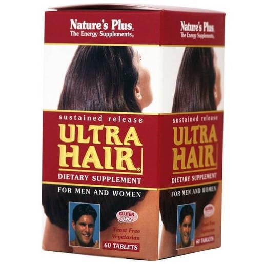 Nature\'s Plus Ultra Hair Συμπλήρωμα Διατροφής, η Πληρέστερη Φόρμουλα που Έχει Δημιουργηθεί για Επανόρθωση Τρίχας 60Tabs