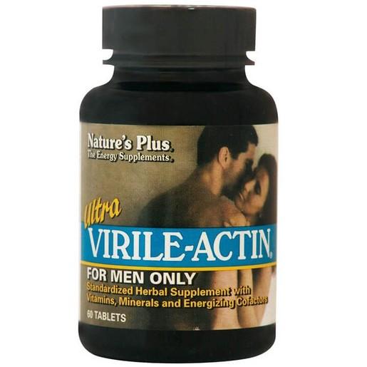Nature\'s Plus Ultra Virile-Actin Συμπλήρωμα Διατροφής για Τόνωση του Ανδρικού Οργανισμού & Ενίσχυση της Ερωτικής Διάθεσης 60Tabs