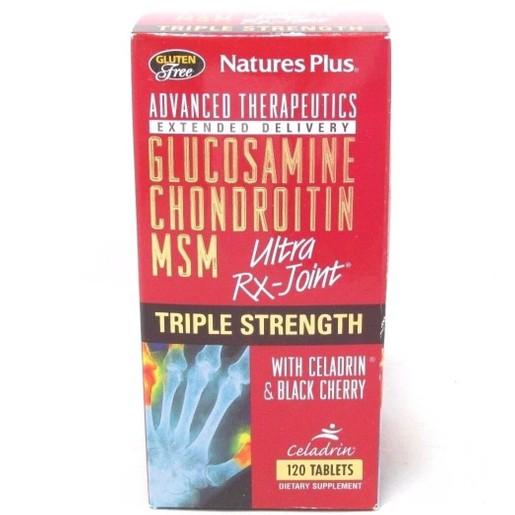 Nature\'s Plus Triple Strength Ultra Rx-Joint Συμπλήρωμα Διατροφής με Αντιφλεγμονική & Αναλγητική Δράση 120tabs