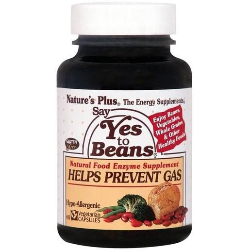 Nature\'s Plus Say Yes To Beans Συμπλήρωμα Διατροφής Φυσικό Βοήθημα για την Καλή Χώνεψη Δύσπεπτων Τροφών 60caps