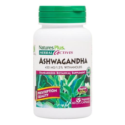 Nature\'s Plus Herbal Actives Ashwagandha 450mg Συμπλήρωμα Διατροφής για Τόνωση & Ενίσχυση Ανοσοποιητικού 60caps