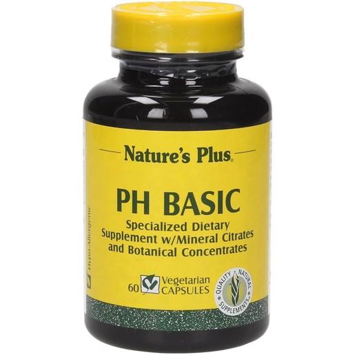 Nature\'s Plus pH Basic Συμπλήρωμα Διατροφής για την Απομάκρυνση των Περιττών Οξέων Φυτικές 60 Κάψουλες