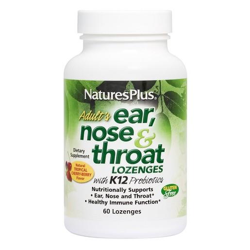 Nature\'s Plus Ear, Nose & Throat Προβιοτικά Εξισορρόπησης της Μικροβιακής Χλωρίδας του Αυτιού, της Μύτης & του Λαιμού 60 Tabs