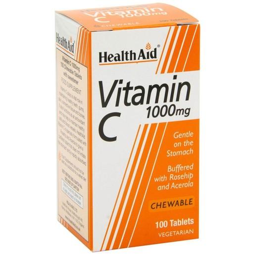 Vitamin C 1000mg 100chew.tabs - Health Aid