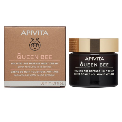 Apivita Queen Bee Holistic Age Defence Night Cream With Greek Royal Jelly in Liposomes 50ml