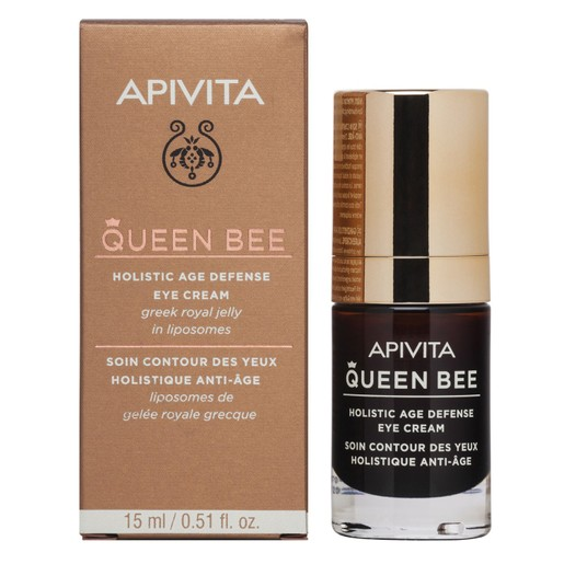 Apivita Queen Bee Holistic Age Defence Eye Cream With Greek Royal Jelly In Liposomes 15ml