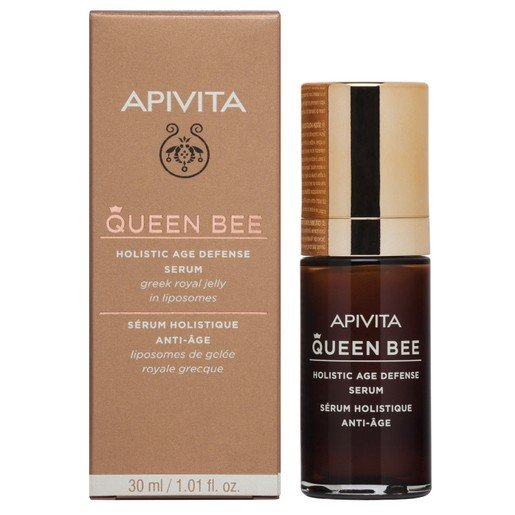 Apivita Queen Bee Holistic Age Defence Serum With Greek Royal Jelly in Liposomes 30ml