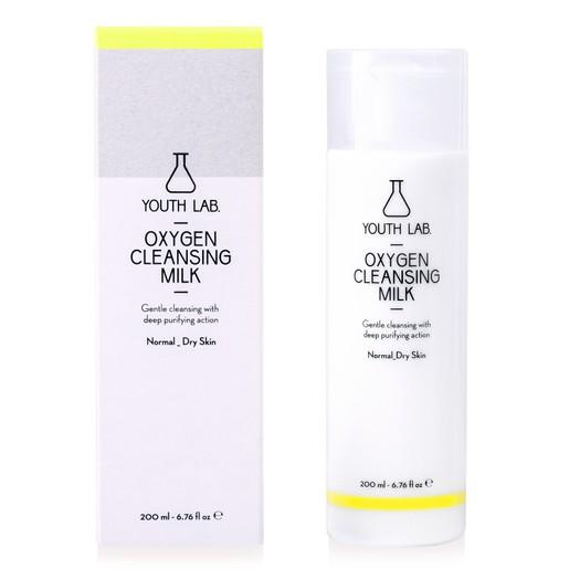 Youth Lab Oxygen Cleansing Milk for Normal Dry Skin Απαλό Γαλάκτωμα Προσώπου με Βαθιά Καθαριστική - Εξυγιαντική Δράση 200ml