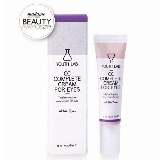 Youth Lab CC Complete Cream for Eyes All Skin Types Κρέμα Ολικής Αναδόμησης με Χρώμα για την Περιοχή των Ματιών 15ml