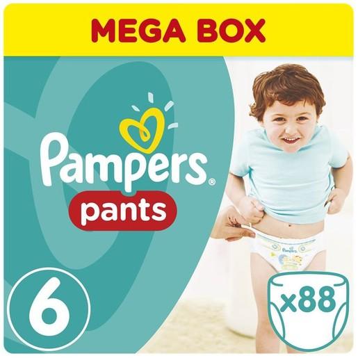 Pampers Pants Mega Box Extra Large Νο6 (15+kg) 88 πάνες