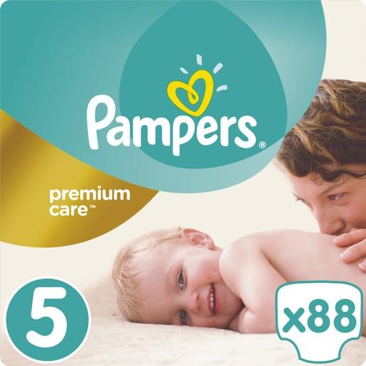 Pampers Premium Care No5 Maxi Plus (11-18kg) 88 πάνες
