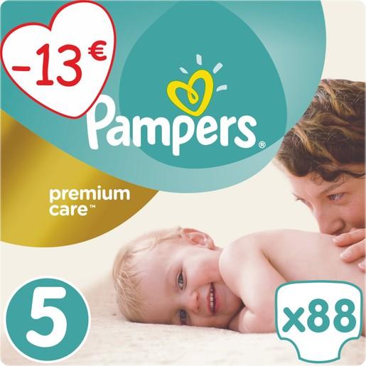 Premium Care No5 Maxi Plus (11-18kg) 88 πάνες, μόνο 0,25€ / πάνα - Pampers