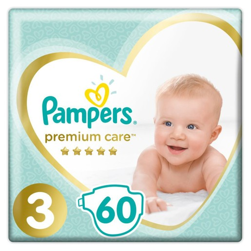 Pampers Premium Care Νο3 (6-10kg) 60 πάνες