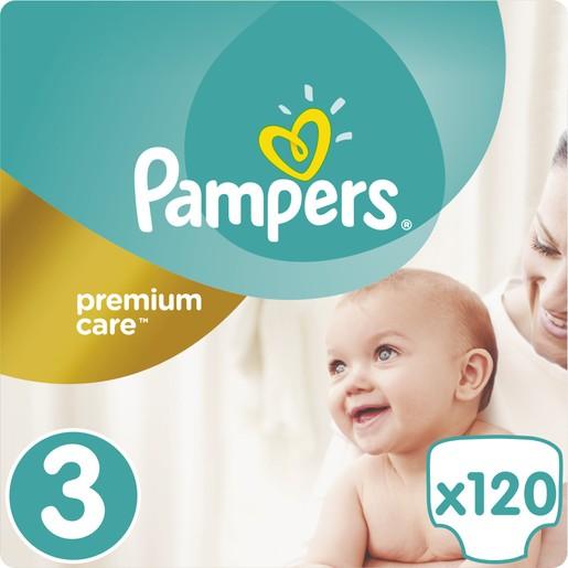 Pampers Premium Care No3 (5-9kg) 120 πάνες