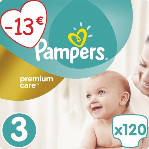 Premium Care No3 (5-9kg) 120 πάνες,  μόνο 0,19€ / πάνα - Pampers