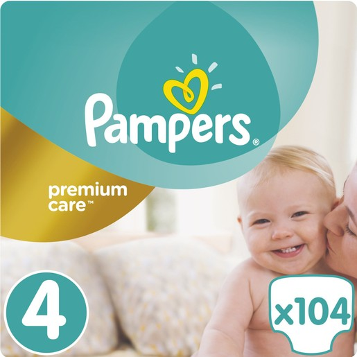 Pampers Premium Care No4 Maxi (8-14kg) 104 πάνες