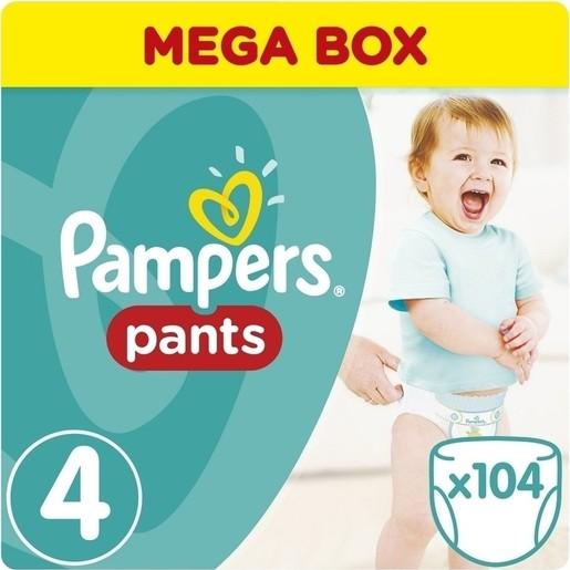 Pampers Pants No4 (8-14kg) 104 πάνες