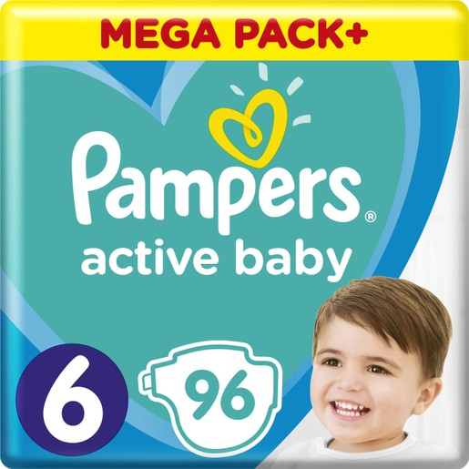 Pampers Active Baby Πάνες Mega Pack  No 6 (13-18 kg) 96 Πάνες