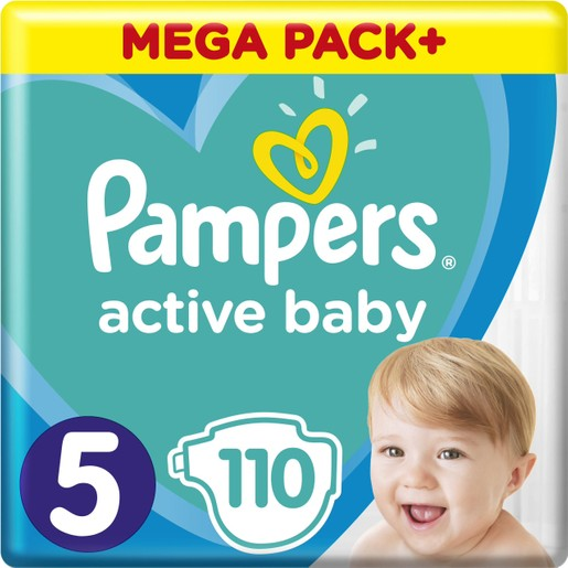 Pampers Active Baby Mega Pack Νο5 (11-16 kg) 110 πάνες