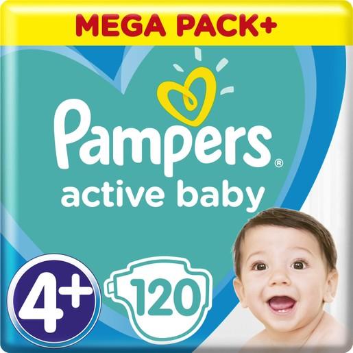 Pampers Active Baby Πάνες Mega Pack No4+ 10-15kg 120 Πάνες