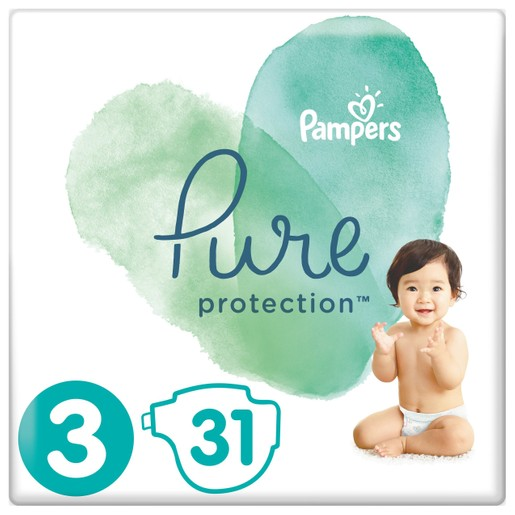Δώρο Pampers Pure Protection No3 (6-10kg) 31 πάνες