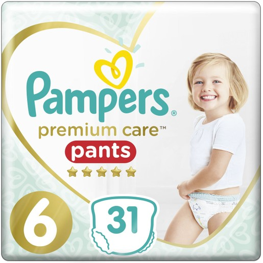 Pampers Premium Care Pants Jumbo Pack No6 (15+Kg) 31 πάνες